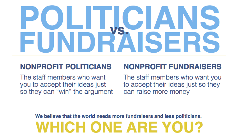 Cheat sheet for fundraisers