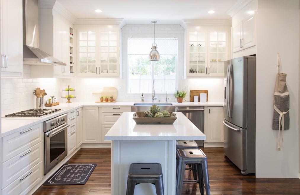 White IKEA Modern Farmhouse Style Kitchen