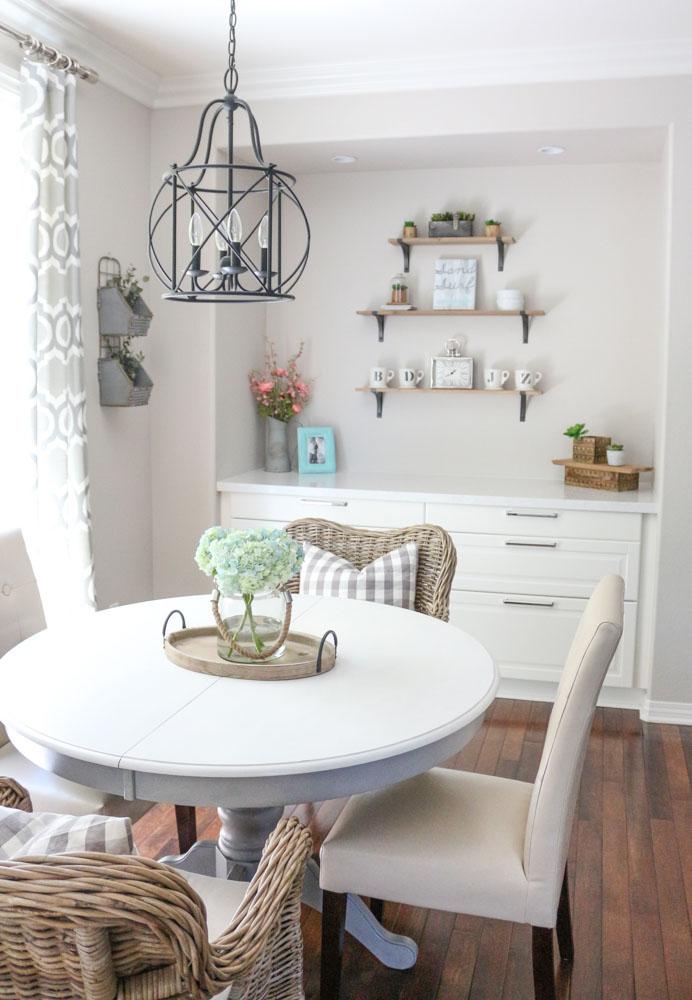 Modern Farmhouse Dining Room Table DIY 1111 Light Lane