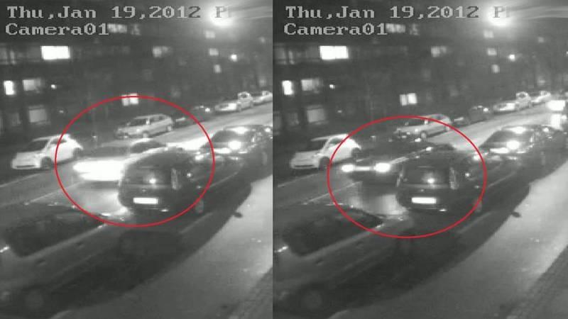 To minutter før overfaldet klokken 23.15 19. januar 2012 ankom to biler til gerningsstedet – En mørk Ford Mondeo eller Toyota Carina og en sølvgrå BMW. Politiet efterlyser vidner, der kan sidde inde med information om disse biler og deres færden 19. januar 2012.