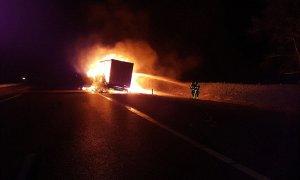 A4 vrachtwagen brand