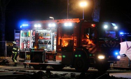 Tankautospuit brandweer ter plaatsen