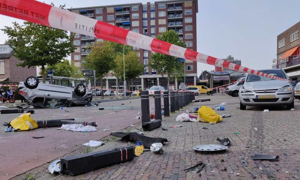 Gewonde en veel schade bij ongeval na vechtpartij in Den Bosch.
