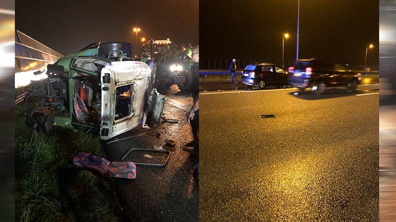Zwaar ongeval op de A4 met tractor.