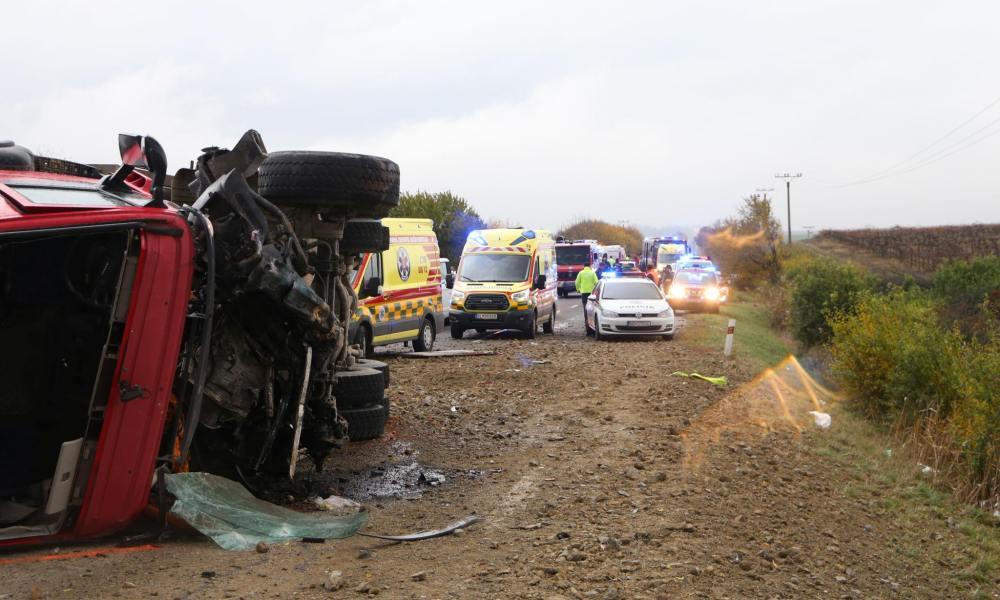 Zeker 12 doden bij ongeval met bus in Slowakije.