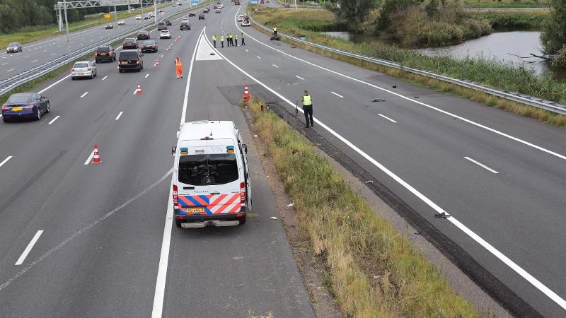 Motorrijder ernstig gewond na ongeval A2.