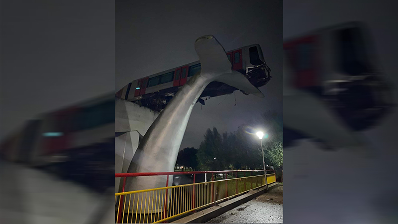 Bizar ongeval met metro in Spijkenisse.