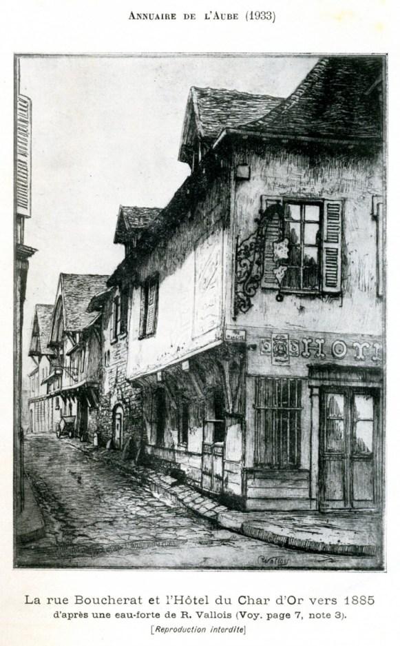 Annuaire de l'Aube 1933, Lithographie p. 3, photo Société académique de l'Aube