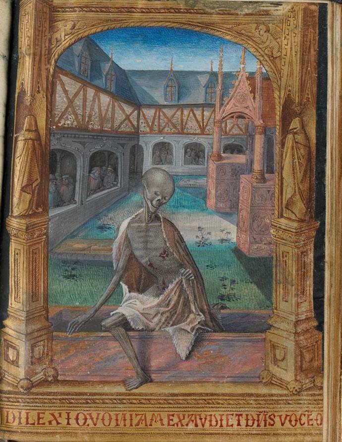 Livre d'heures à l'usage de Troyes décoré par Jean Colombe pour la famille Le Peley, cote MS 3901, Médiathèque du Grand Troyes, photo P. Jacquinot