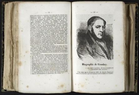 Biographie de Gambey : Almanach de Troyes 1848 : 2ère année, pages 52-53. Cab. loc. 12° 1068. Médiathèque du Grand Troyes. Photo: P. Jacquinot