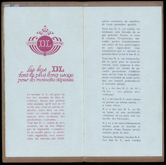 Les 7 secrets de Martine pour faire durer les bas, établissements Doué et Lamotte, Troyes, vers 1930, pp. 9-10. Médiathèque du Grand Troyes. Photo: Eric Bord