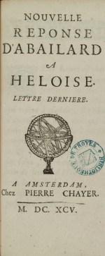 Edition en français des lettres d'Héloïse et d'Abélard publiée au XVIIe siècle. Photo Médiathèque de Troyes Champagne Métropole