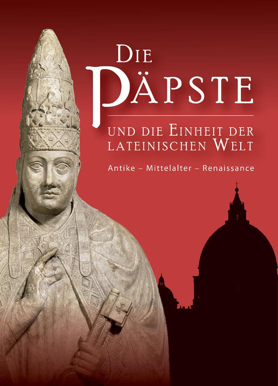"""Affiche de l'exposition """"Les Papes et l'unité du monde latin"""". Photo, Reiss Engelhorn Museen Mannheim"""