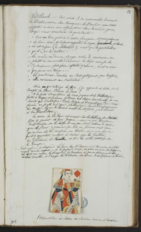 Page intérieure du manuscrit d'Alexis Socard [Ms 2071] Photo Médiathèque Troyes Champagne Métropole