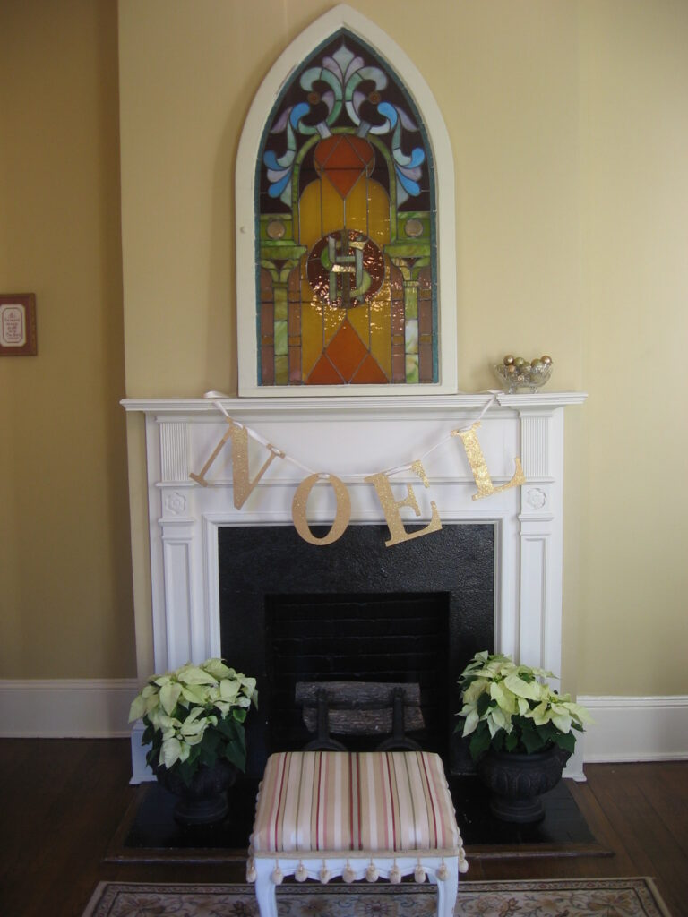 Living Room Mantel 1