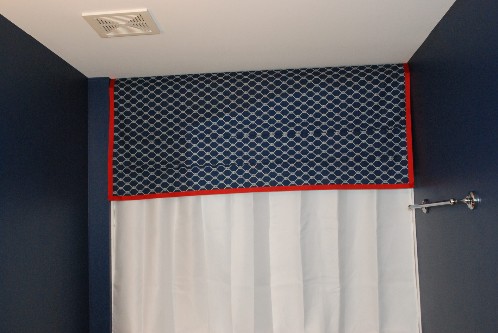 DIY easy shower valance