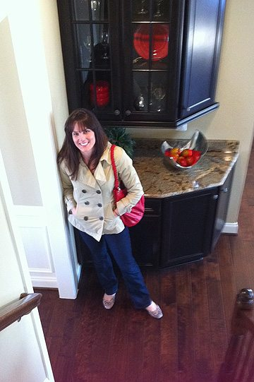 And here is Terry, who happens to be stylishly sporting the same colors as the Model Home