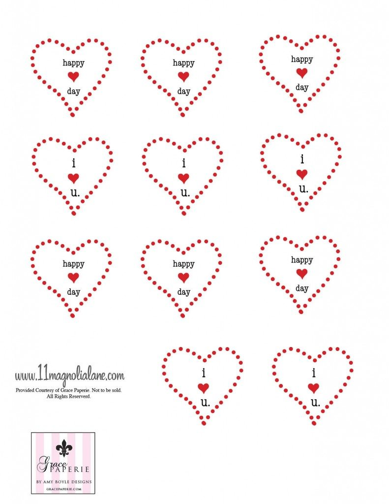 Red Valentines Printable 1