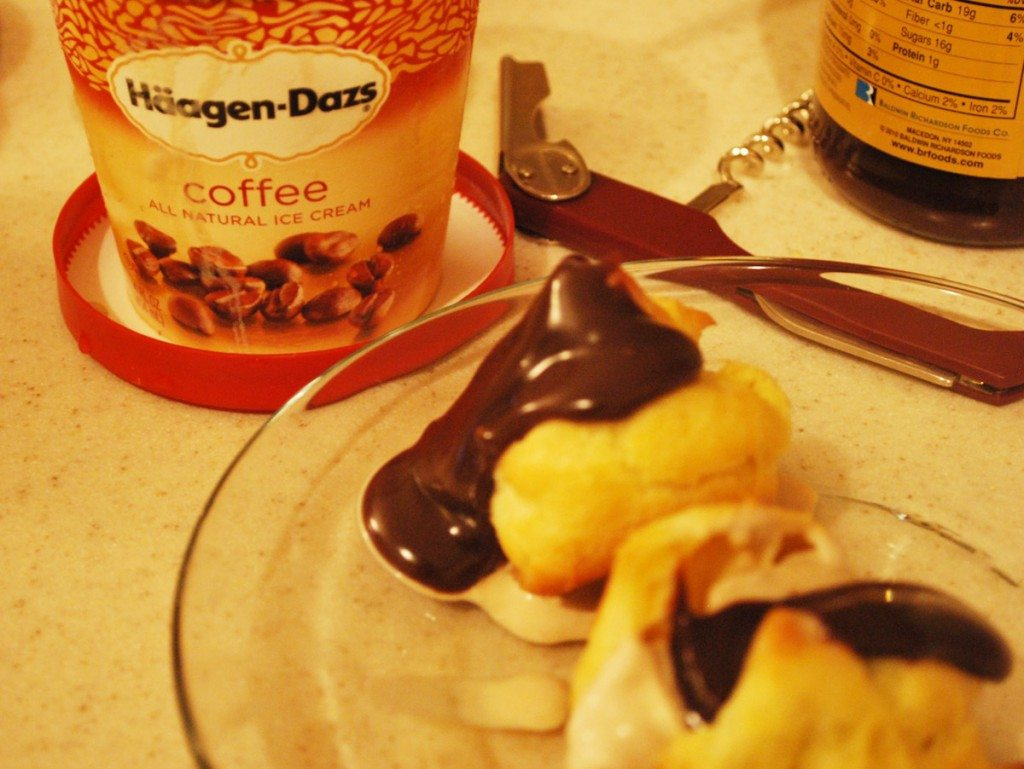 Profiteroles for dessert