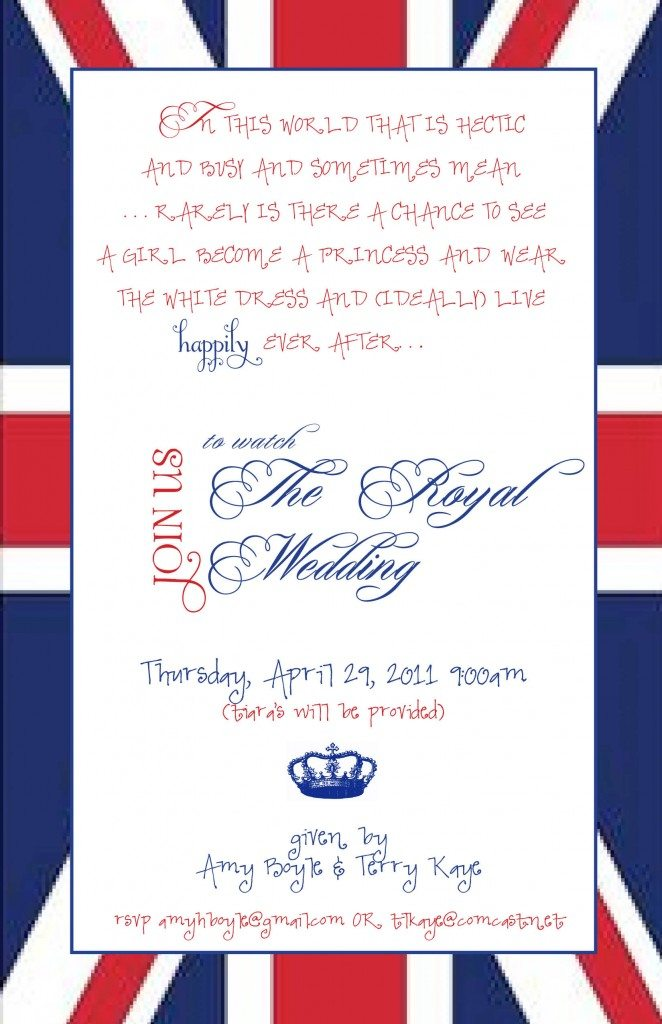 The Royal Wedding Party Invitation