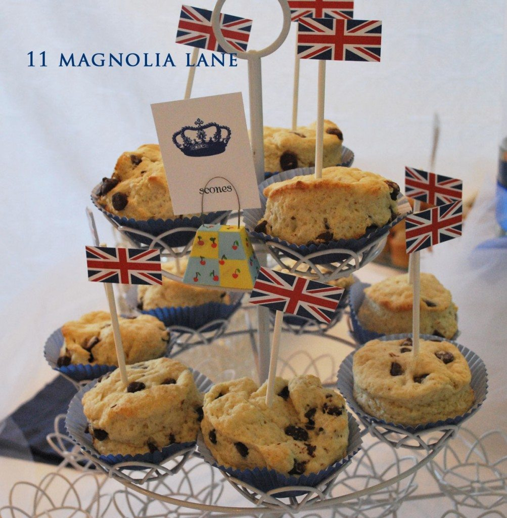 A brittish wedding...scones of course...