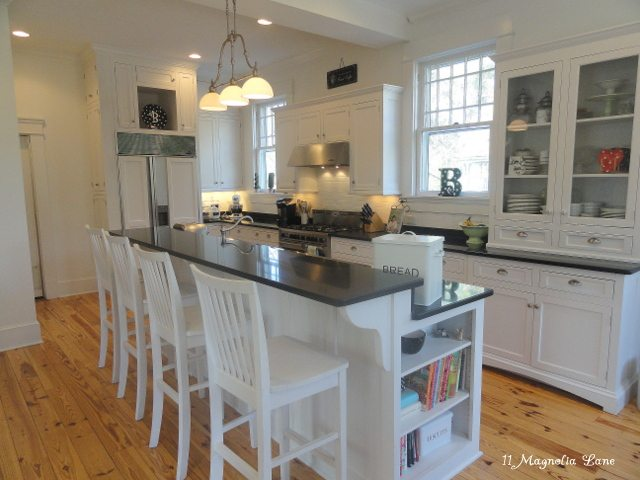 white kitchen historic home