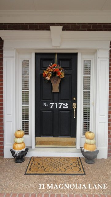 Fall front door at 11 Magnolia Lane