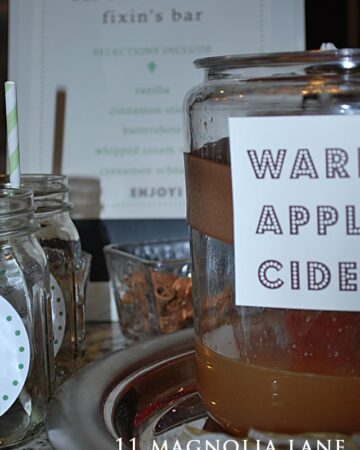 Fall Engagement Party {Apple Cider Bar}