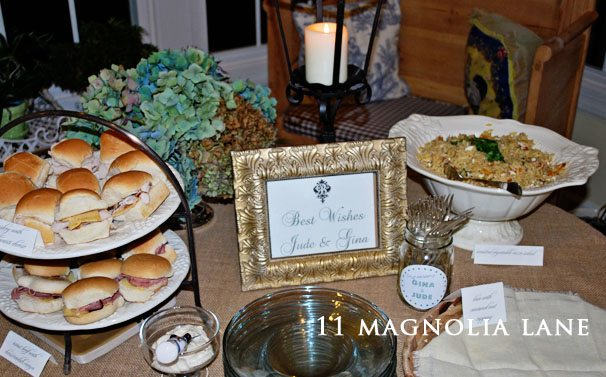 fall engagement party menu