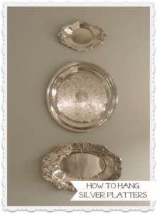 how to hang silver platters on the wall