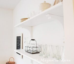 Kitchen Progress {Open Shelving}