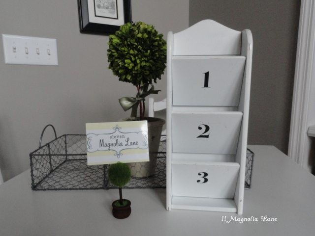 DIY letter bill paying organizer