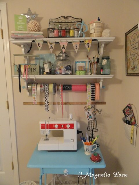small craft sewing area