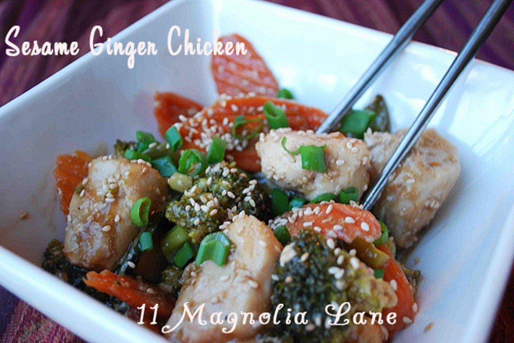 Sesame ginger chicken recipe