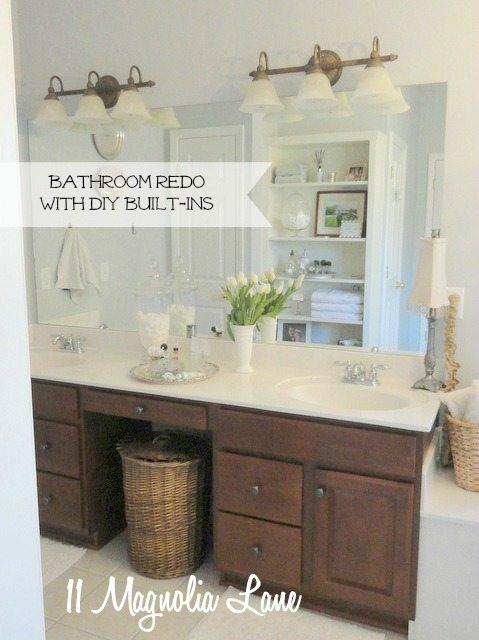 bathroom counter built-ins