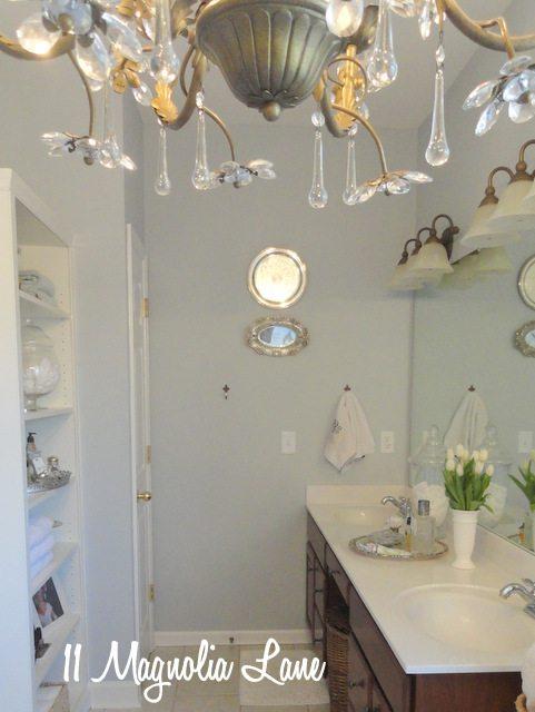 master bath chandelier