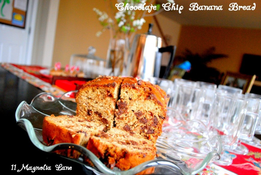 Recipe Banana Bread with Chocolate Chips