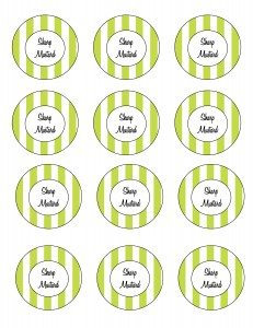 Free printable green sharp mustard recipe labels