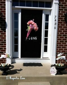 April Showers Bring May Flowers: My Front Door Easter Makeover