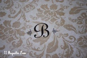 DIY monogrammed picture frame tutorial