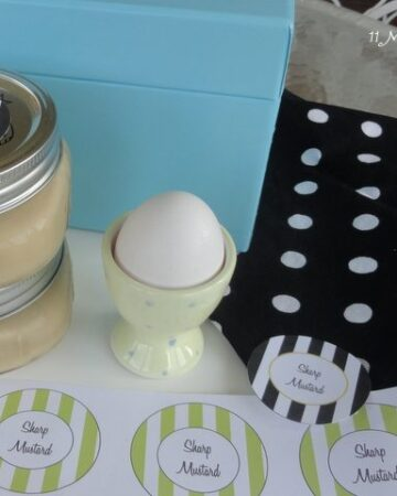Homemade Sharp Mustard~The Perfect Easter Hostess Gift & Free Printable Labels