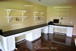 basement remodel home office kids learning center