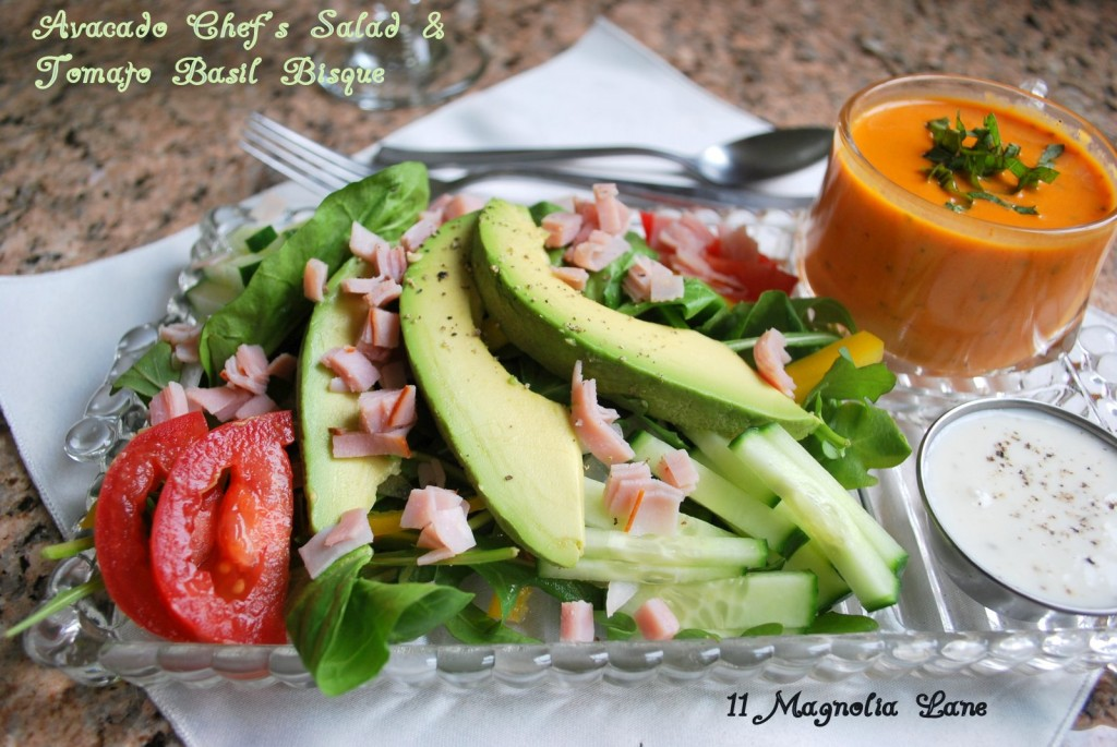 Avocado Chef's Salad with Ranch Dressing