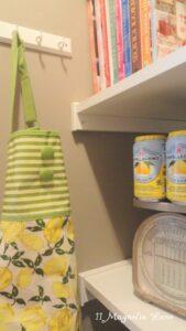 Monogrammed Burlap Tote Bag Giveaway Winner AND Sneak Peak at My Pantry Reveal