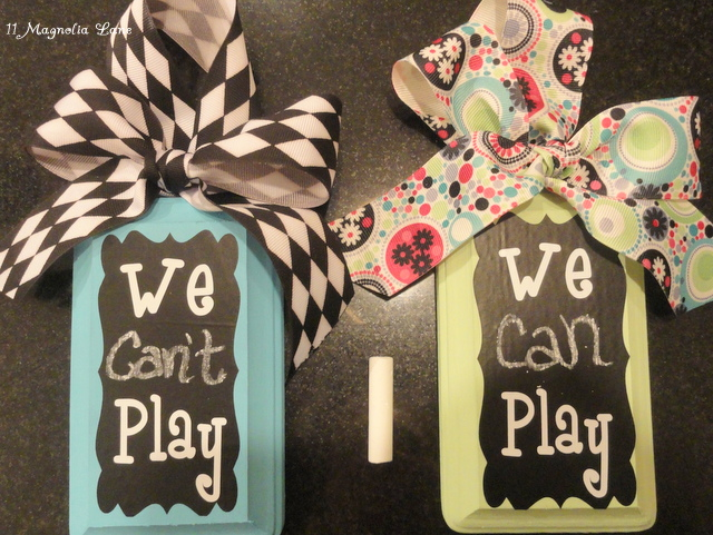 we can can't play door sign hanger tutorial