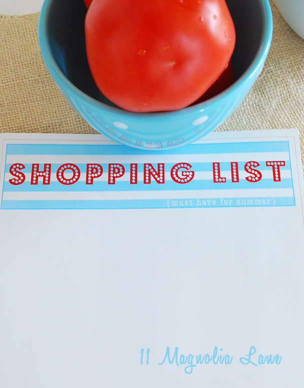 shopping list image