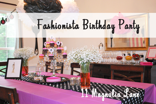 fashionista birthday party