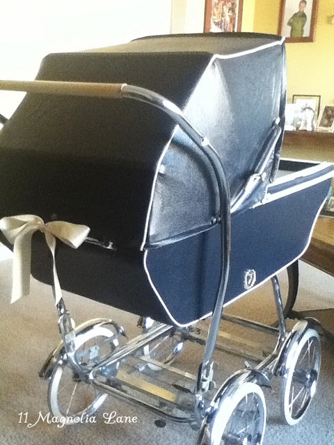 English pram baby shower gift