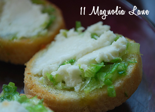 goat cheese and scallion crostini appetizer recipe