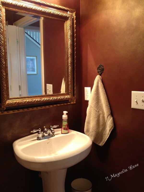 Black And White Powder Room Redo With Diy Bead Board Tutorial 11 Magnolia Lane